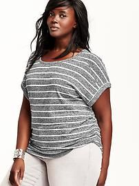 Relaxed Dolman-Sleeve Ruched Plus-Size Top