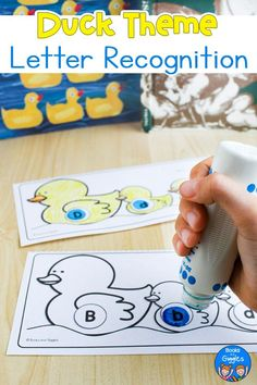 These free printable letter recognition worksheets go with both 10 Little Rubber Ducks by Eric Carle OR Make Way for Ducklings by Robert McCloskey #preschool #alphabetworsheets #booksandgiggles