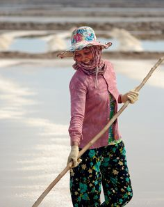 Salt fields at Kep Cambodia