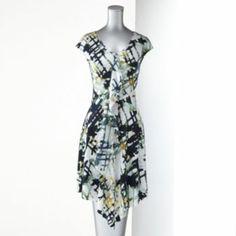 Simply Vera Vera Wang Printed Ruffle Dress - Women's Very adorable dress