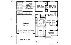 The Tolliver House Plan - First