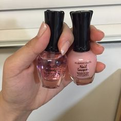 Nail polish bundle Kleancolor / clear hardener & pink sleepers / both are used a few times / open to negotiations  Kleancolor Other
