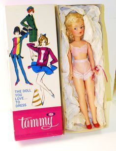Vintage 1962 Tammy Doll by Ideal No.9000-1 in original box
