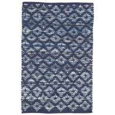 Our design team revamped our bestselling cotton denim rag rug with an inky indigo overlay adding modern geometric structure to a casual and worthy base, handwoven from strips of your favorite jeans.