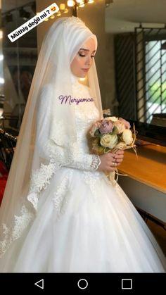 Hijabi Wedding, Hijab Wedding Dresses, Hijab Bride, Bridal Dresses, Flower Girl Dresses, Wedding Prep, Dream Wedding, Cute Muslim Couples, Muslim Brides