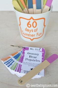 60 days of Summer Fun w/ Printable Cards! This looks like such a good way to keep kids busy this summer and its super easy to put together!