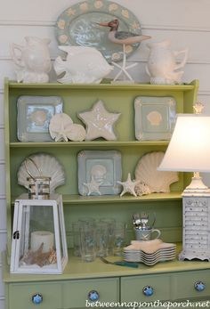 The Summer Porch: Beach Cottage Decor | http://betweennapsontheporch.net/the-summer-porch-beach-cottage-decor/
