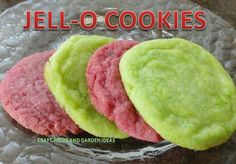 Jello cookies.  Perfect colors for the party