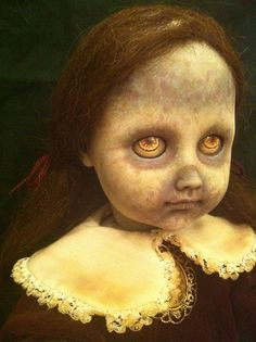 OOAK Vintage Zombie Doll by PostmortemPlaythings on Etsy, $95.00