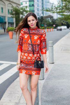 Trends for Spring 2016: here's my oriental look! Today I'm loving this red dress by Asos, with black accessories! | Una tendenza per la primavera 2016: ecco il mio look orientale! Oggi mi piace quest'abitino rosso da Asos e gli accessori neri!