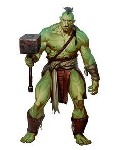 m Half Orc Barbarian N WarHammer wilderness Fantasy Races, High Fantasy, Fantasy Warrior, Fantasy Rpg, Medieval Fantasy, Fantasy Artwork, Orc Warrior, Goblin, Dnd Characters