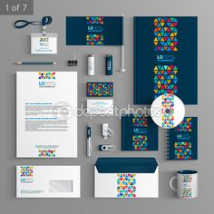 Find Blue Stationery Template Design Vertical Lines stock images in HD and millions of other royalty-free stock photos, illustrations and vectors in the Shutterstock collection. Corporate Identity Design, Brand Identity Design, Branding Design, Logo Design, Graphic Design Brochure, Letterhead Design, Magazine Ideas, Stationary Design, Stationery Templates