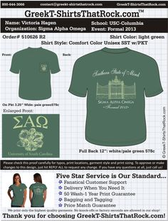 Sigma Alpha Omega T-Shirts That ROCK! #sao #sigmaalphaomega Customize this design for your chapter. Just save the image, click it and upload it here... http://www.greekt-shirtsthatrock.com/custom-proof/