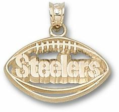 "Pittsburgh Steelers NFL 14K Charm by Logo Art. $219.12. gold. Item Length: ""1/4 - 1. Item Width: ""1/4 - 1. 14K PITTSBURGH STEELERS PIERCED FOOTBALL"