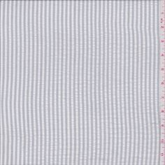 Grey/White Stripe Seersucker - 28582 - Fabric By The Yard At Discount Prices - $4.45