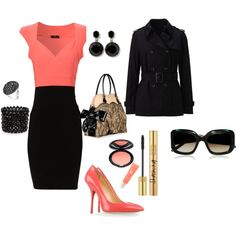 Outfit (with black shoes instead of coral)