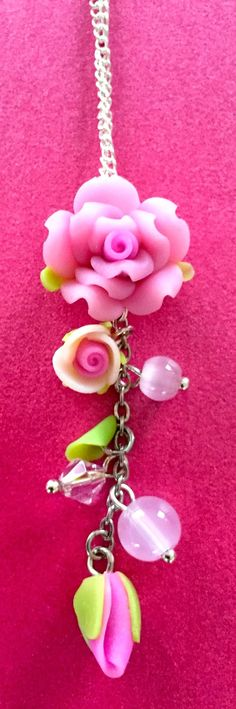 Lavender likes, loves, finds and dreams: Pink Rose Necklace Giveaway