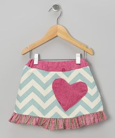 Take a look at this Pink Zigzag Heart Skirt - Infant, Toddler & Girls on zulily today!