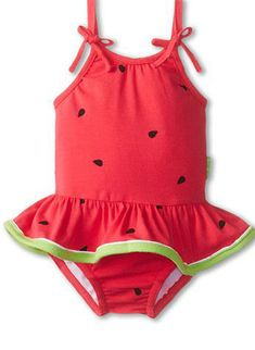Le Top Watermelon Cutie Skirted Swimsuit (Watermelon Pink) Girl's Jumpsuit & Rompers One Piece on Baby Outfits, Kids Outfits, Kids Swimwear, Swimsuits, Cute Babies, Baby Kids, Adorable Baby Clothes, Baby Baby, Baby Girl Swimsuit