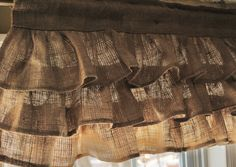 Burlap Ruffled Valance. For my rustic bedroom in progress!