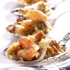 Savory Stuffings  Whether paired with poultry or eaten alone, nothing says Thanksgiving on the coast like a good recipe for seafood stuffing.