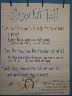 Worksheets Show Don T Tell Worksheets notebooks reading buddies and the cool on pinterest show dont tell lesson pictures of how it was done the