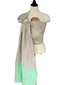 Linen Ring Sling Baby Carrier Baby Sling  Stained by SnuggyBaby, $89.00