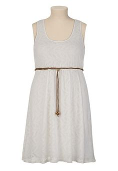 Belted Lace Dress - maurices.com  So simple!