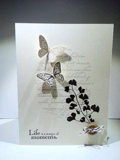 Gorgeous, elegant card by Miriam van Eyden. Elements of Style, Papaya Collage, En Francais