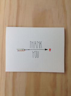 Thank You Arrow Card.