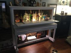 Piano bar made from a 1920 Story & Clark player piano. Vieux Pianos, Reuse, Upcycle, Piano Art, Creative Ideas, Repurposed, Hands, Bar, Future