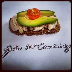 breast of chicken, ripe avocado and little cherry tomatoes on top of McCambridge's brown bread...delicious!