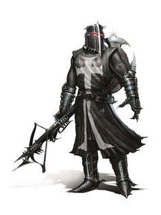 """*Argtan """"Blackslash"""", human, dark paladin."""