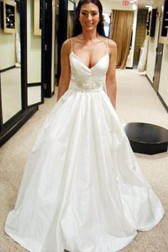 Say Yes to the Dress: Season 1 Episode 6: Say Yes to the Dress: Atlanta: TLC  Lazaro  $ 2,950  THIS...but with lace in the middle that ties back into a bow instead.