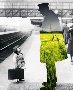 """""""The Passenger"""" by Merve Ozaslan #collage #art #digitalart #color #vintage"""