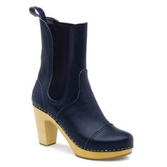 love these...Cilla Chelsea Boot Navy now featured on Fab.