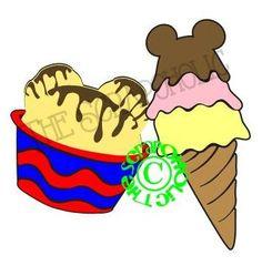 Disney Mickey Ice Cream Digital MTC & SVG Cut by TheScrapoholic