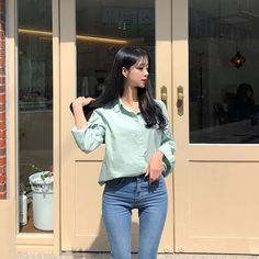 69k Followers, 249 Following, 319 Posts - See Instagram photos and videos from 이연송 (@velyyson_g Asian Fashion, Girl Fashion, Fashion Outfits, Asian Model Girl, Asian Girl, Skinny Asian, Skinny Girls, Foto Pose, Tops For Leggings