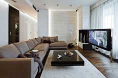 Modern neutral lounge #Modern I love this colors and designs with the big clear windows!