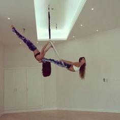 "2,877 Likes, 78 Comments - Sarah Jones (@sarah_polefitdubai) on Instagram: ""Don't let the fear of falling keep you from flying  With @michelle_polefitdubai  #doublehoop…"""