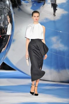 Christian Dior - Runway - PFW F/W 2013 Ancient Greece Doric Peplos Banded and fabric hangs about waist line