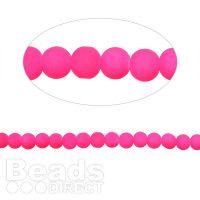 Neon Pink Acrylic Round Beads 8mm 32