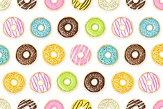 Seamless pattern of tasty donuts. Graphics This is vector seamless pattern with sweet colorful donuts on the white and dark backgrounds.These by joulenc Wedding Card Design, Wedding Cards, Colorful Donuts, Page Background, Sweet Couple, Paint Markers, Graphic Patterns, Dark Backgrounds, Textures Patterns