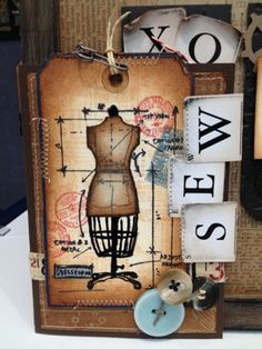 Scrapbook Territory: Tim Holtz new stamps in - Sewing Blueprints