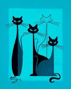 elgatogomezarts.com - cats art  - El Gato Gomez Art
