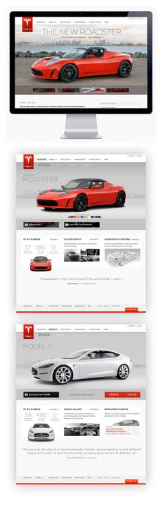 Tesla Motors by Moosesyrup , via Behance
