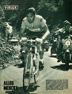 Tour de France 1969. 11^Tappa, 9 luglio. Col d'Allos. Eddy Merckx (1945) [Miroir Sprint]