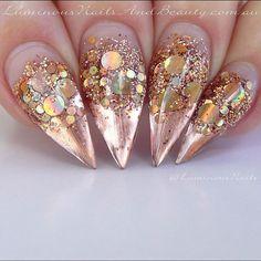 Rose gold stilettos