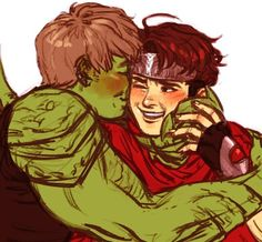 Teddy Altman (Hulkling) x Billy Kaplan (Wiccan) from Young Avengers ©Marvel