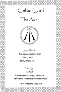 Awen Celtic Card
